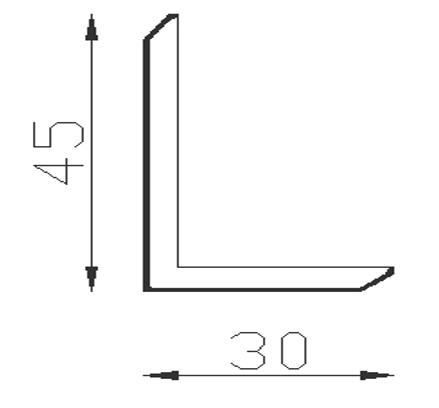 Nẹp V EW45T30 45(w)x30(h) (L=3m)