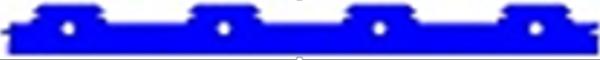 Xương trần nan gỗ composite khoảng cách tim : 65mm, 85mm, 110mm EW25T20 25(w)x20(h) (L=3m)