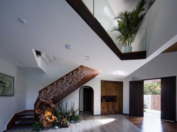 Mẫu nhà đẹp hình ruộng bậc thang phủ đầy cây xanh cực mát mẻ