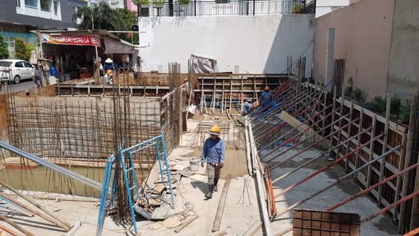thi công vách tầng hầm xây nhà trọn gói biệt thự chú Hào Quận Bình Thạnh