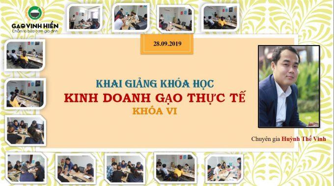 Khai giảng khóa học kinh doanh gạo - Khóa VI