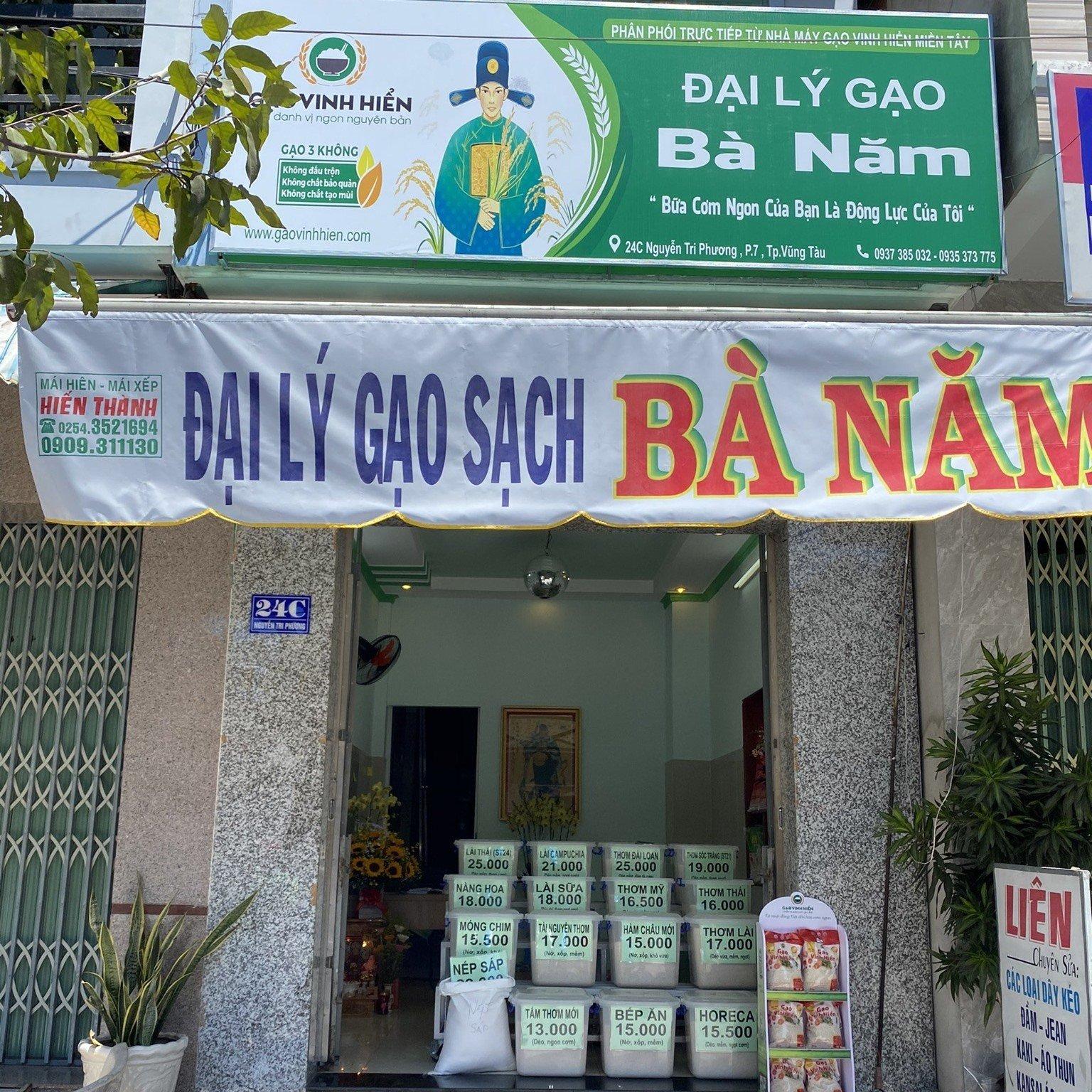 Đại lý gạo BÀ NĂM tại thành phố biển Vũng Tàu