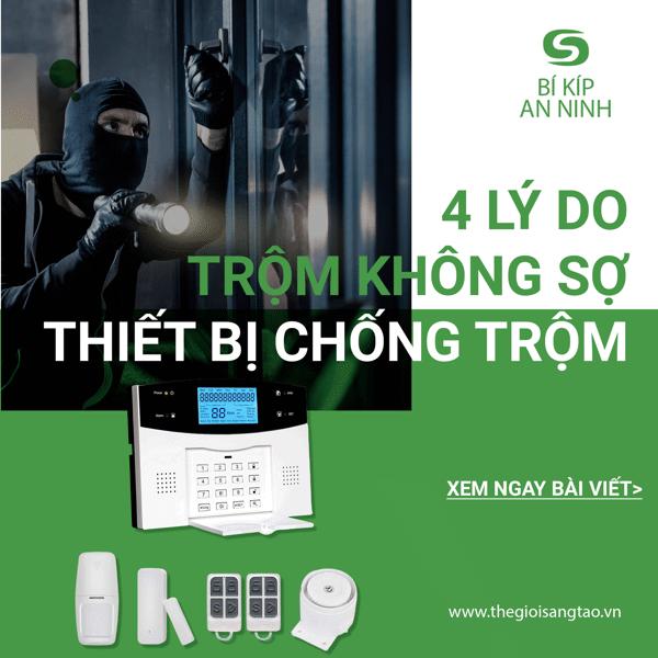 4 lý do trộm không sợ hệ thống báo động chống trộm của bạn