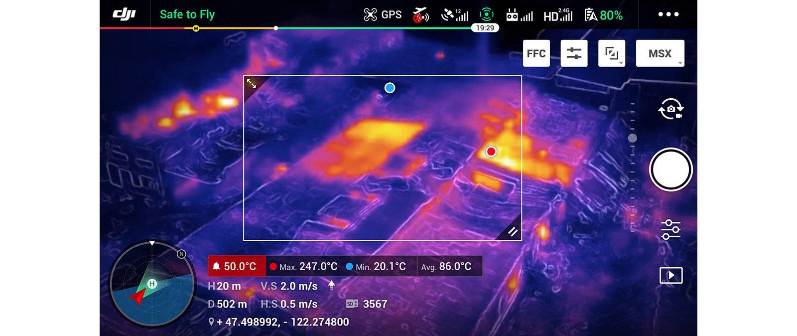 Area measurement: giám sát nhiệt độ trong 1 vùng cố định.