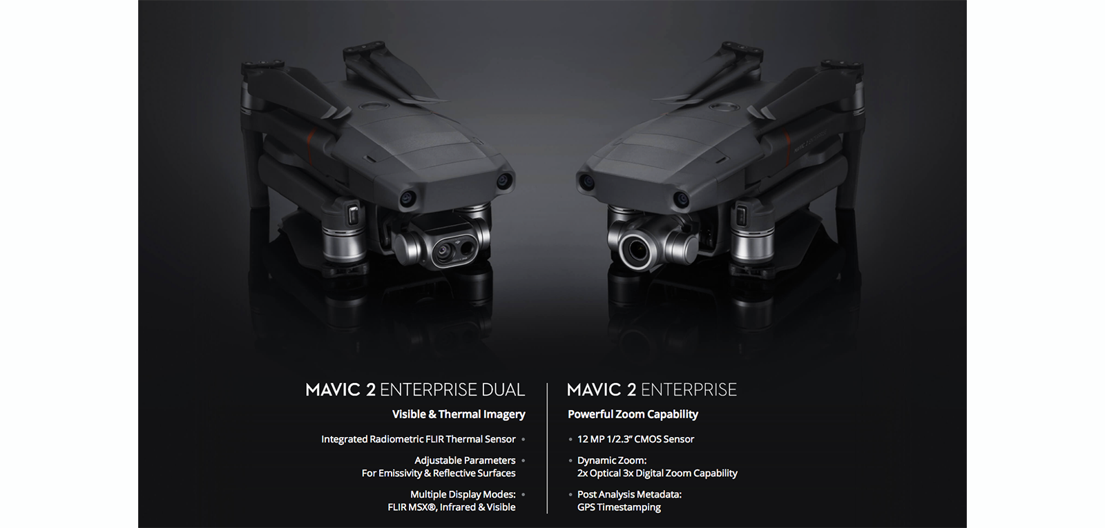 Mavic 2 Enterprise series zoom and dual