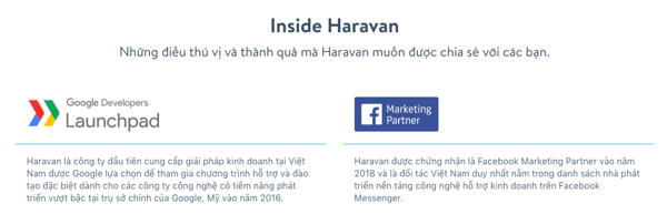 Haravan đối tác Google Facebook