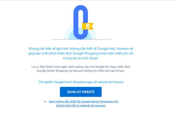 Miễn phí triển khai Google Shopping với Haravan