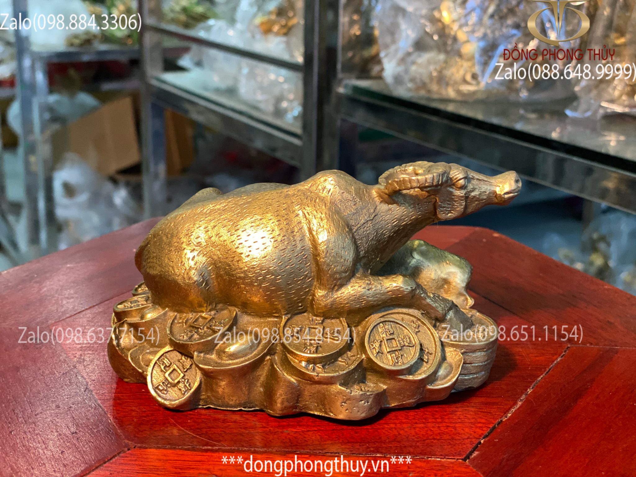 tượng trâu bằng đồng