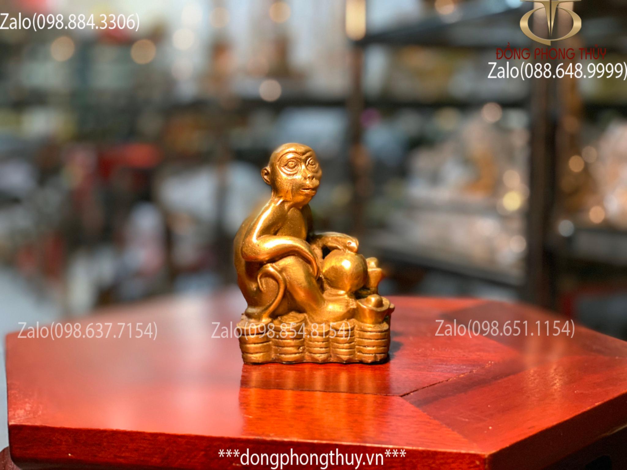tượng khỉ bằng đồng