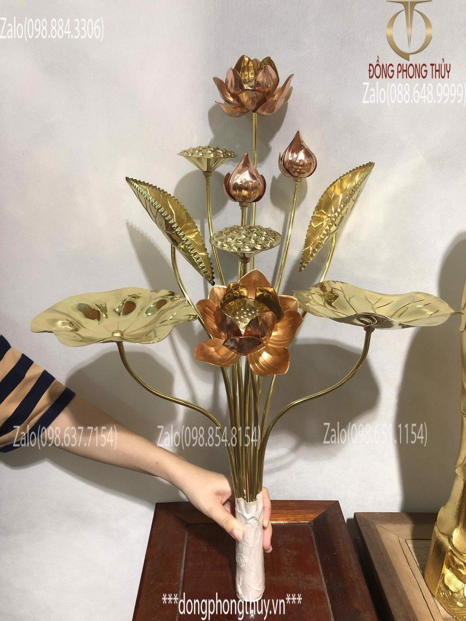 giá bán hoa sen bằng đồng