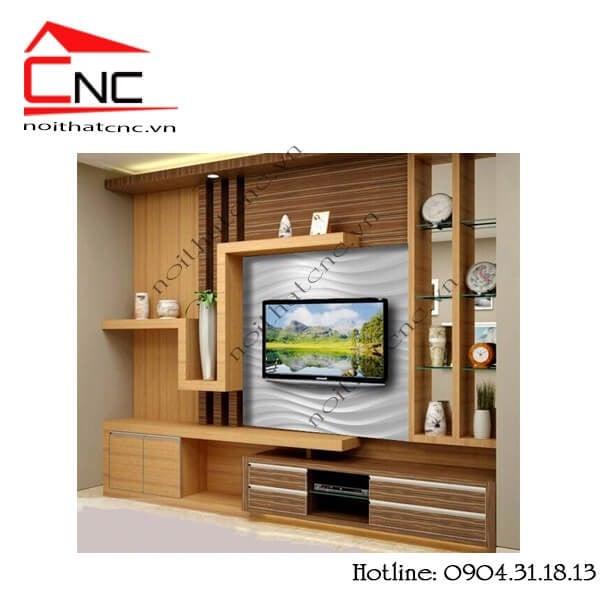 50 mẫu kệ tivi làm vách ngăn phòng khách vừa là điểm nhấn trang trí