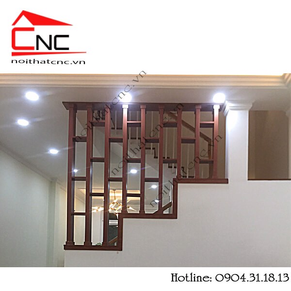 mẫu lam gỗ tam cấp cầu thang