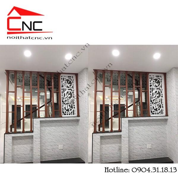 Thi công lam gỗ trang trí cầu thang HÒA BÌNH quận Tân Phú.