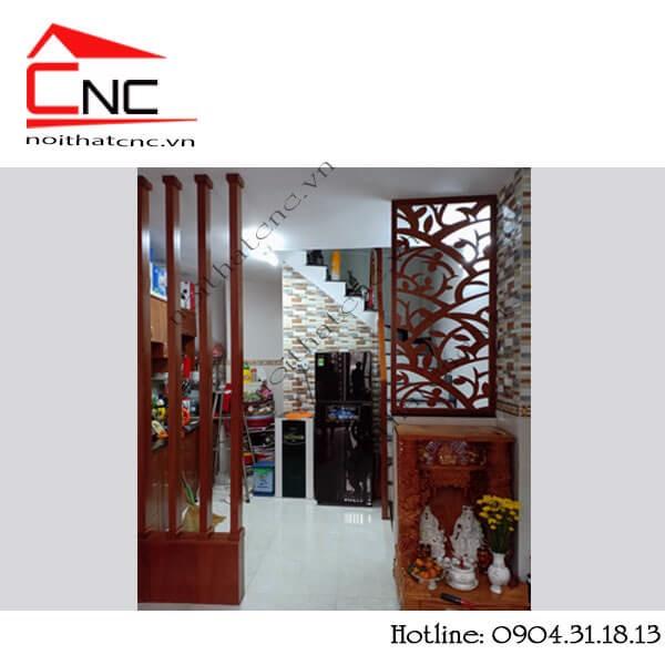 Vách ngăn phòng khách - vách ngăn phòng khách bằng gỗ công nghiệp.