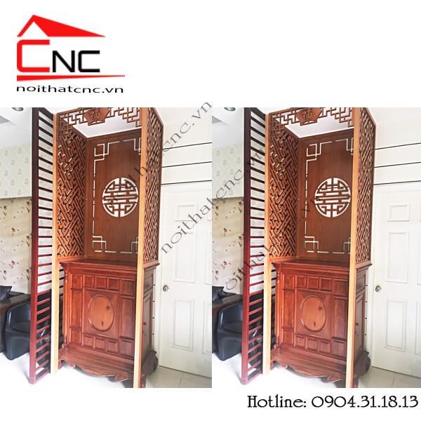 Thi công vách ngăn tủ thờ Chung cư INVESCO Quận 8