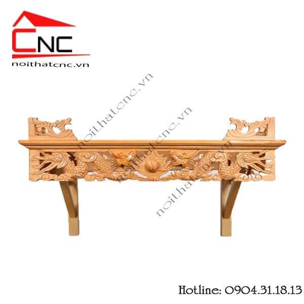 Mẫu bàn thờ treo tường rồng đẹp