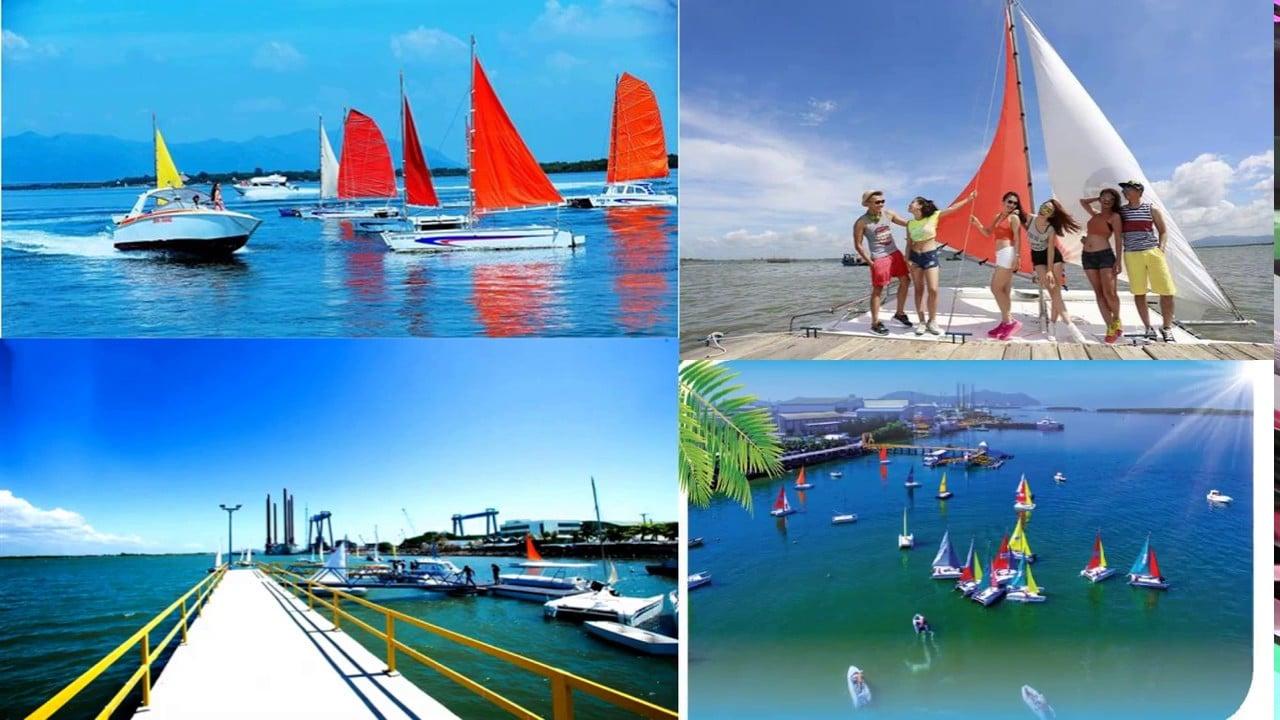 Bến Marina có nhiều du khách check in ở cây cầu giữa biển với rất nhiều loại du thuyền, cano nhiều màu sắc