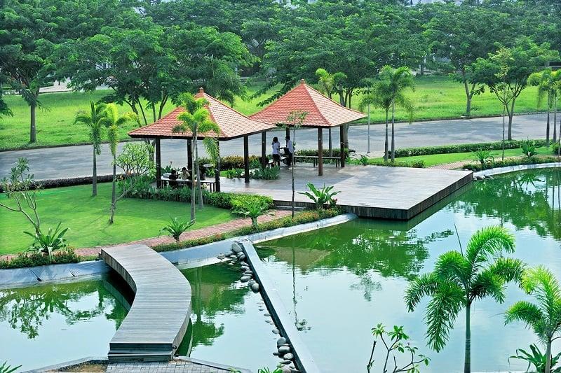 khuôn viên của công viên Nam Sài Gòn