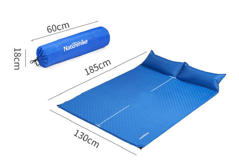 Kích thước sử dụng 185cm *  130cm, kích thước gấp gọn là 60cm * 18cm