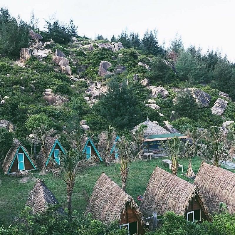 Khuôn viên của khu dã ngoại Trung Lương