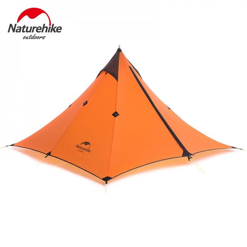 Lều du lịch 1 người Naturehike NH17T030L màu cam, hình kim tự tháp