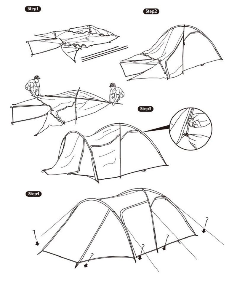 Hướng dẫn cách sử dụng lều cắm trại