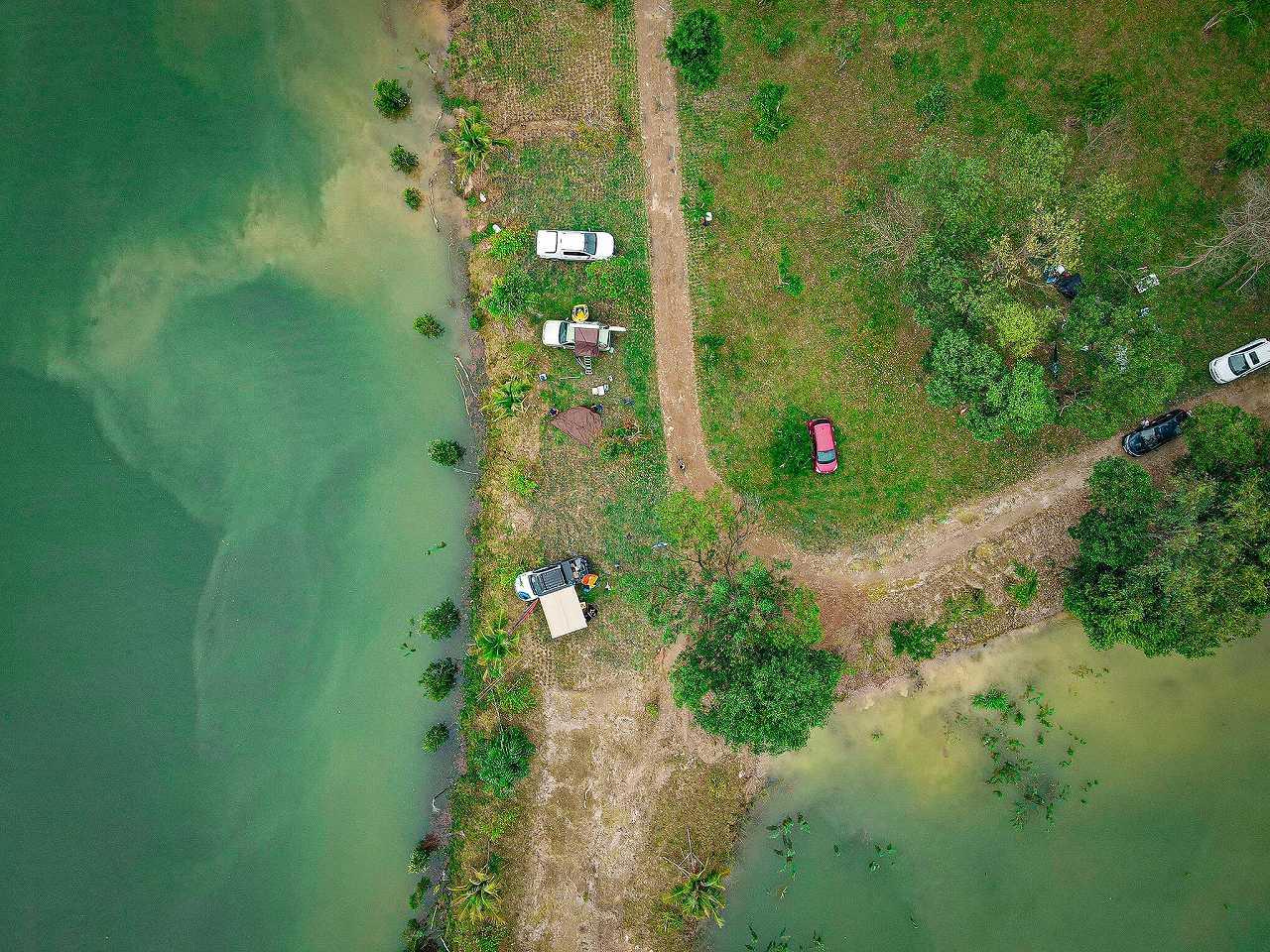 địa điểm cắm trại tuyệt đẹp ở hồ Đồng Mô