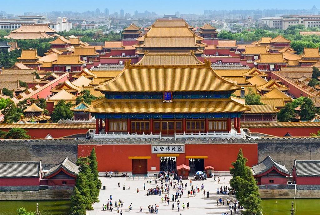 Quần thể cung điện Trung Quốc mái vòm vàng cổ xưa