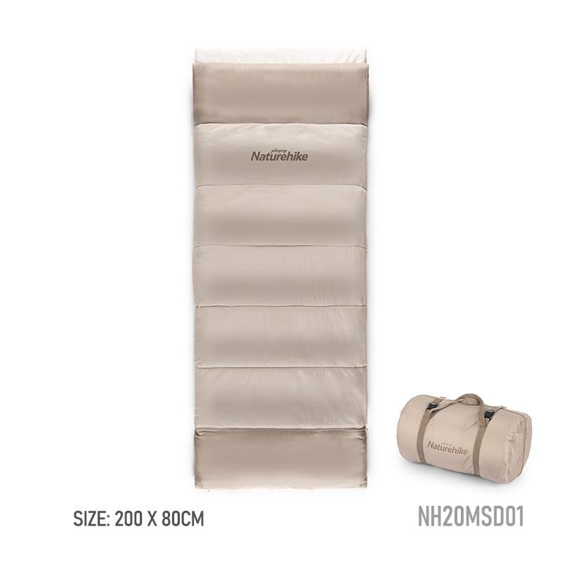 Kích thước của túi ngủ màu hồng là 200cm * 80cm, kèm túi đựng bảo quản