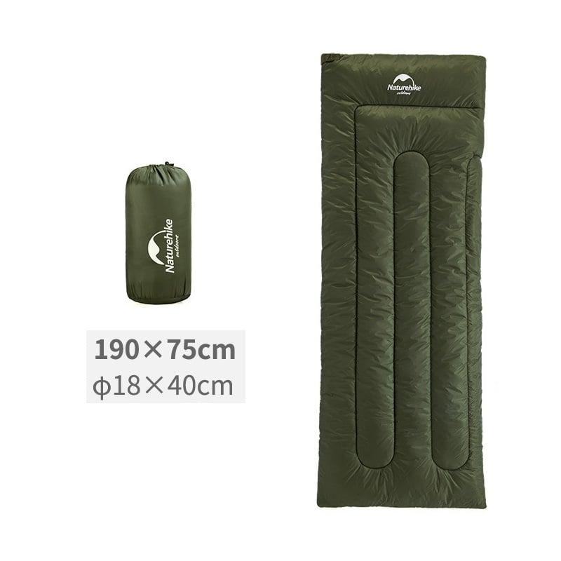 Túi ngủ xanh rêu size L khi gấp gọn