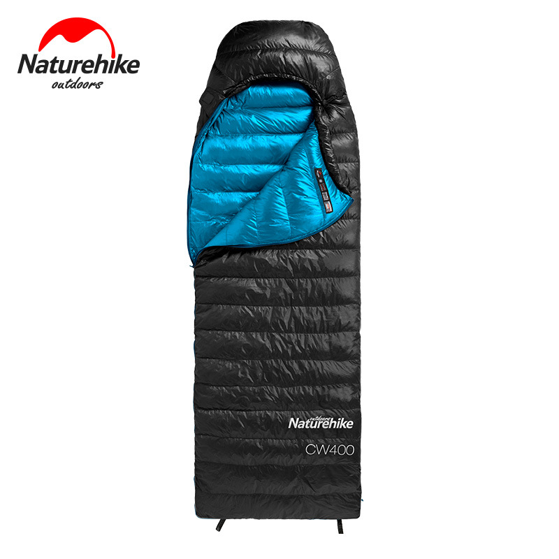 Túi ngủ bên ngoài màu đen bên trong màu xanh dương