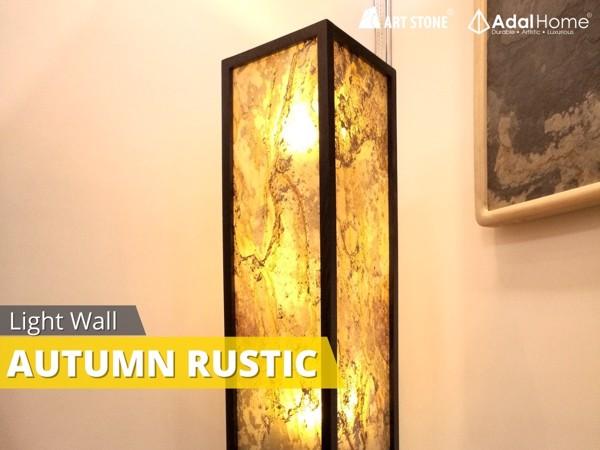Đá mỏng xuyên sáng Art Stone - Light Wall làm đèn đứng