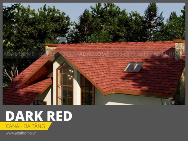 Ngói bitum phủ đá CANA - Đa tầng Công trình màu Dark Red