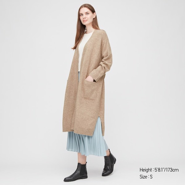 Áo len lông cừu dáng dài Uniqlo 428870