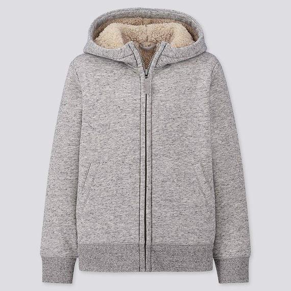 Áo nỉ lót lông cừu Uniqlo Nội địa Nhật Bản 419069 mẫu 2019