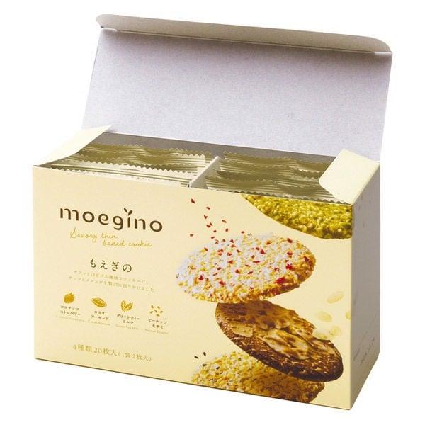 Bánh quy nướng mỏng MOEGINO 4 vị 20 chiếc mẫu mới - 4934675114297