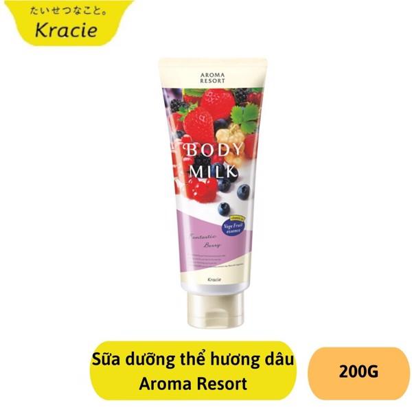 Sữa dưỡng thể Hương Dâu Kracie Body Milk 200ml