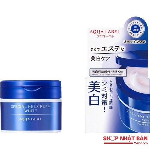 Kem dưỡng trắng Shiseido Aqualabel Special Gel Cream White 5 in 1 (90g)
