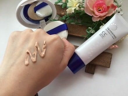 Kem trang điểm CC Transino Whitening Cream SPF50+/PA++++ Nhật Bản