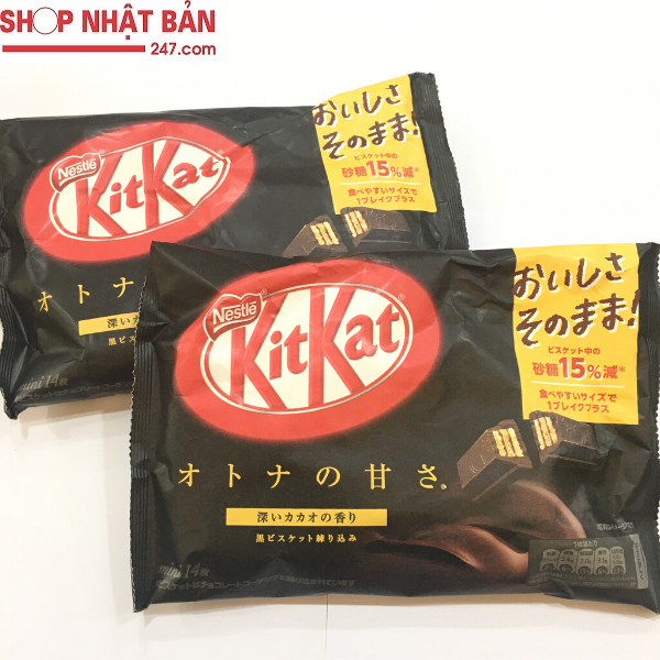 Bánh Kitkat Mini Đắng Nestlé 130g (14 thanh)