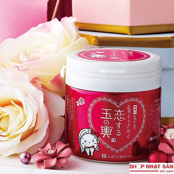 Mặt nạ đậu hũ sữa chua hương hoa hồng Tofu Moritaya Nhật Bản
