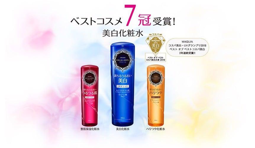 Nước hoa hồng Shiseido Aqualabel White Care Lotion 200ml dưỡng trắng da
