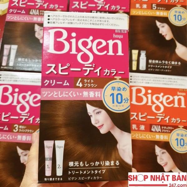 Thuốc Nhuộm Tóc Phủ Bạc Bigen Speedy Color Cream không mùi