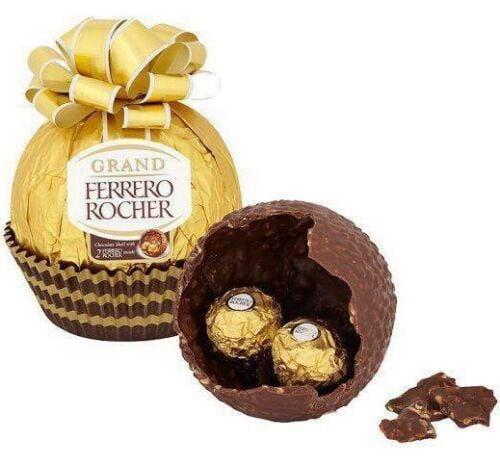Socola Ferrero Grand Rocher hình quả cầu buộc nơ 125gr
