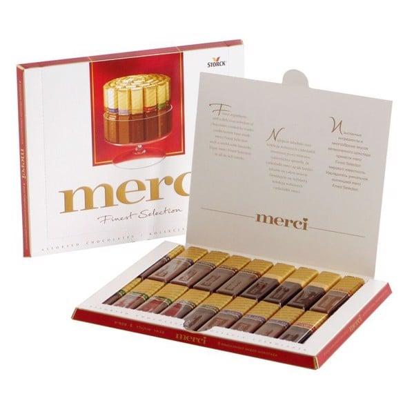 Sô cô la thanh hộp giấy Merci 400g (Chocolate)