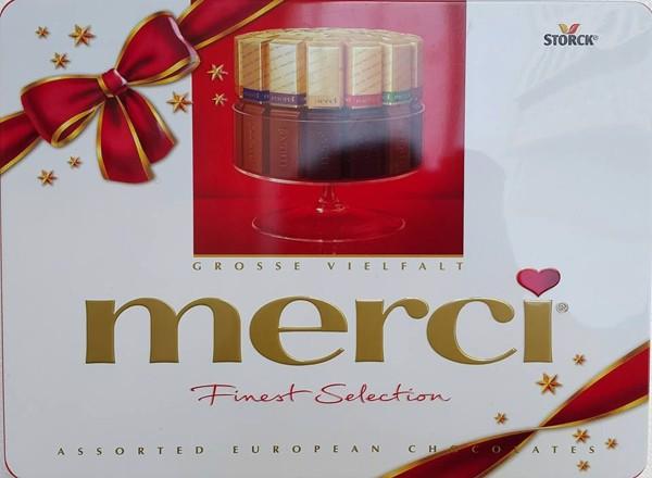 Sô cô la  Merci Finest selection hộp sắt 500g (Chocolate)