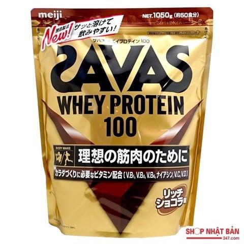 Bột tăng cơ Savas Whey Protein 100 Meiji
