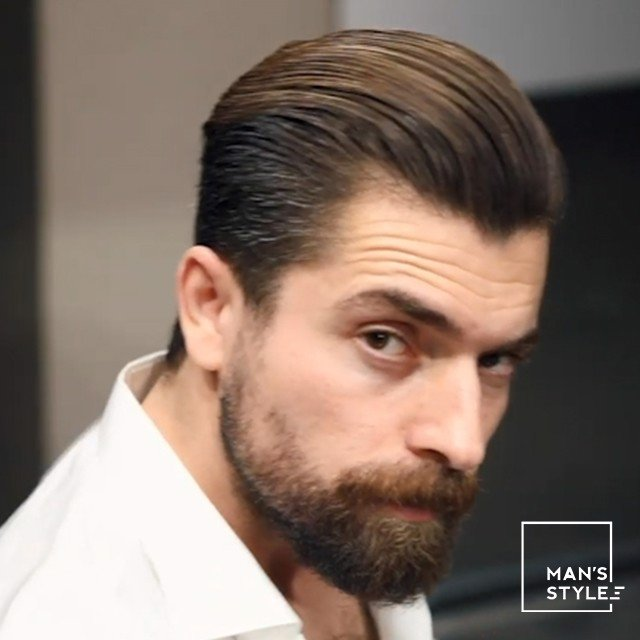 HOW TO CREATE A Slick back hairstyle * PACINOS Matte + Pomade