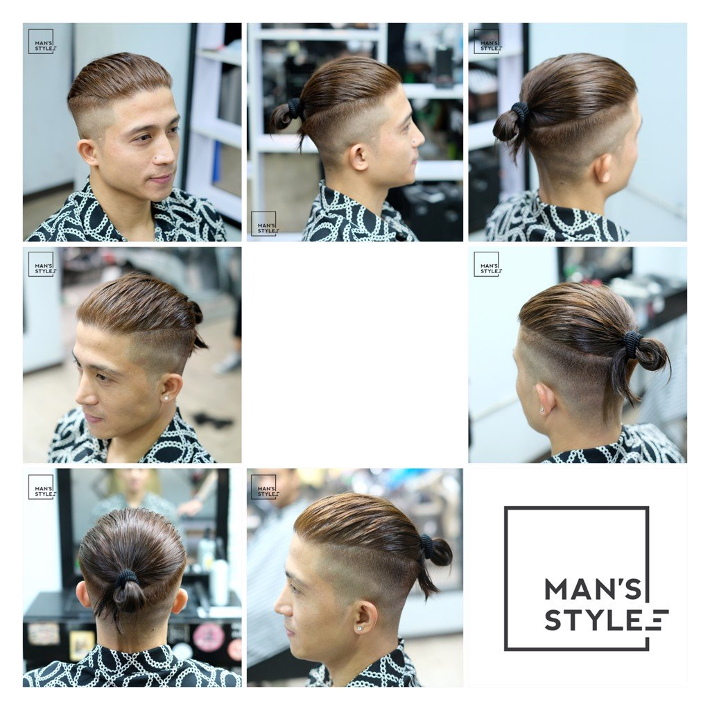 MORRIS MOTLEY - Zuy Minh HairSalon - Man Bun to Top Knot HairStyle - Man's Styles