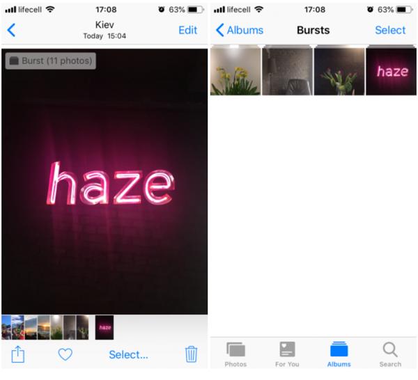 di động v24h Cách chụp, xem và chia sẻ ảnh ở chế độ Burst trên iPhone ảnh 1